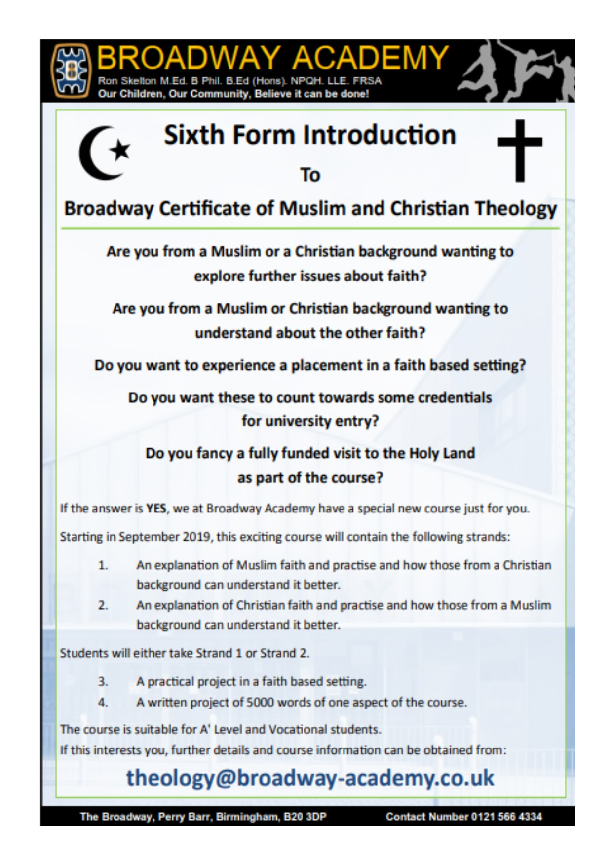 Flyer for Theology certificate JPEG